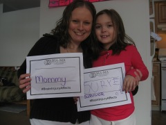 Kristin and her daughter Isabella participate in BIA-MA's #BrainInjuryAffects Campaign.
