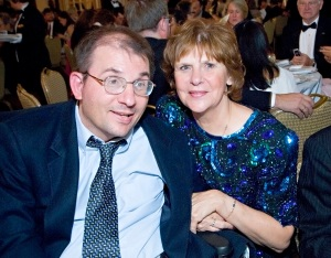 Arlene Korab and her son Kevin at the 25th Anniversary Gala.