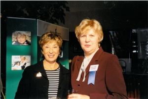 Marilyn Spivack, co-founder of BIAA, with Executive Director Arlene Korab