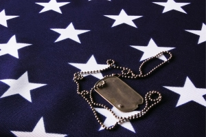 bigstock-Dog-tag-on-American-Flag-29174231