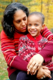 black woman and child