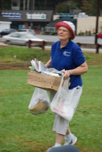Joan helped plan and execute a volunteer-run yard sale in 2011.